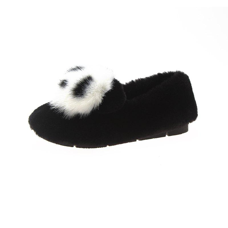 Warm Women Flats Platform Panda Chaussures Casual