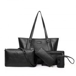 5 Sets of Folding Buckets Single Shoulder Ladies Handbag -