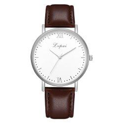 Lvpai P784 Trendy Quality PU Leather Business Quartz Watch -