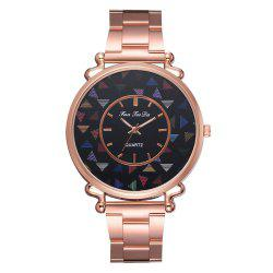 Fanteeda Fd214 Trend Rose Gold Ladies Steel Belt Watch -