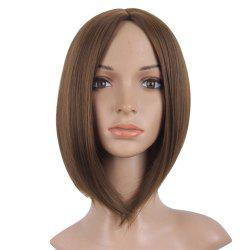Short Straight Wigs Black Brown Natural Middle Long Hair For Women -