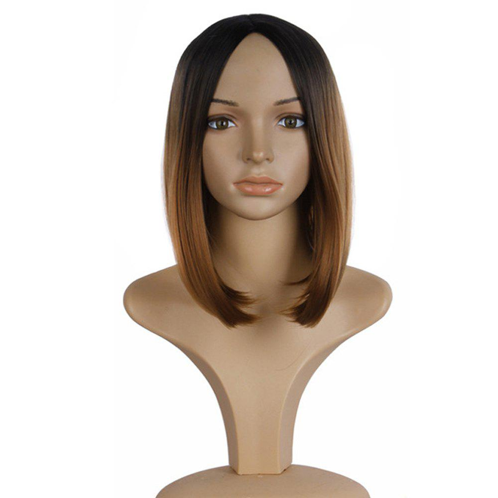 Hot Short Straight Wigs Black Brown Natural Middle Long Hair For Women