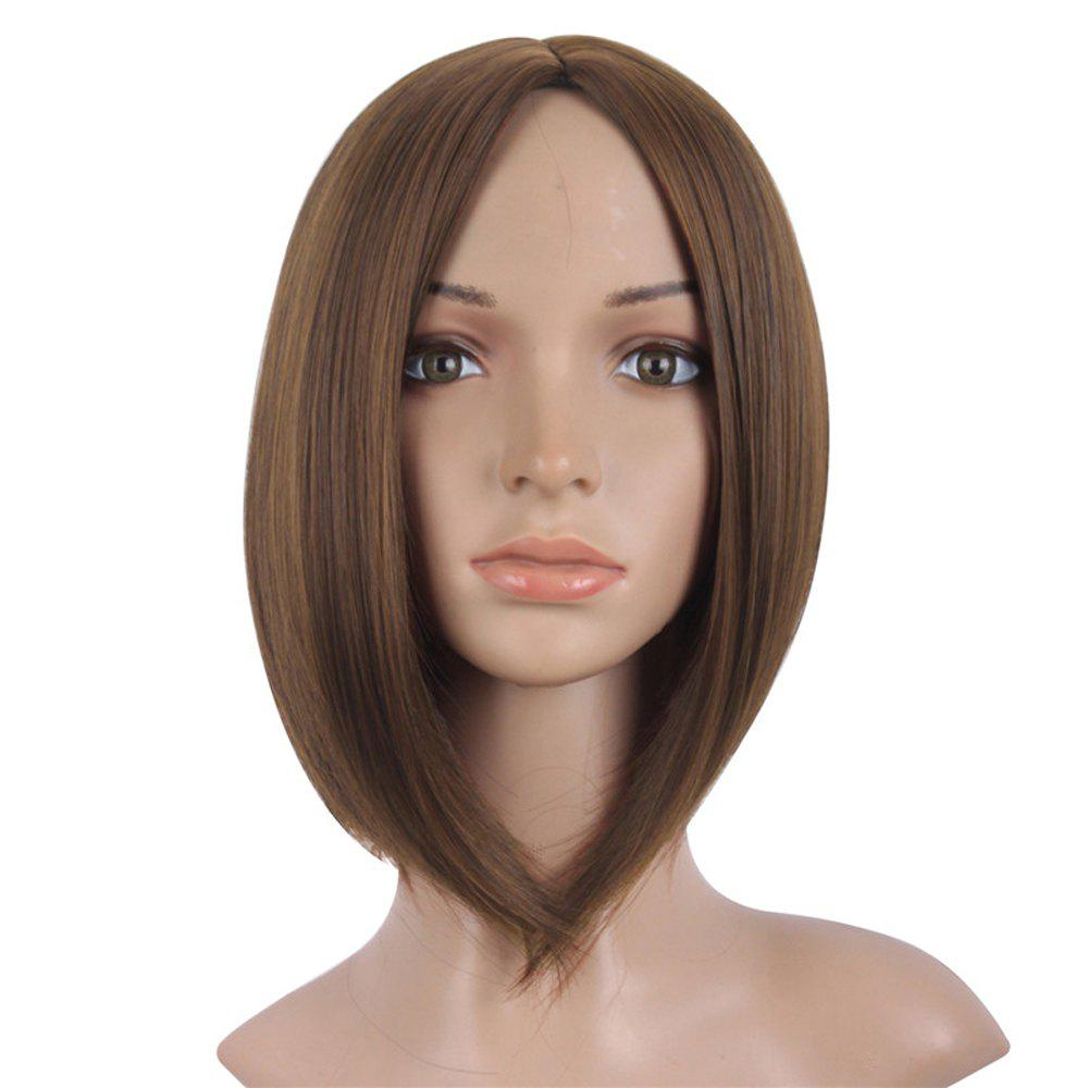 Buy Short Straight Wigs Black Brown Natural Middle Long Hair For Women