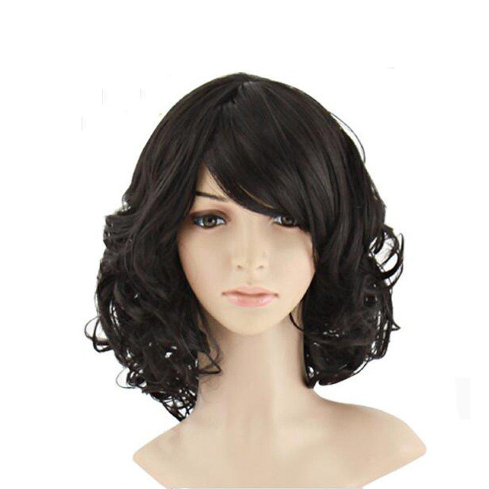 Latest Short Curly Black Wig Natural Wigs For Women Heat Resistant Synthetic Hair P