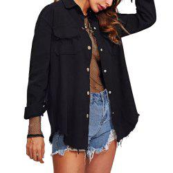 Autumn and Winter New Pocket Tassel Cardigan Long-Sleeved Women's Jacket -