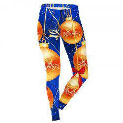 Christmas Decoration Pattern Print Clothes Costume Women Sport Leggings -