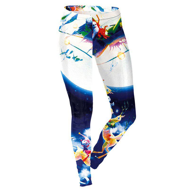 Store Christmas Decoration Pattern Print Clothes Costumes Women Sport Leggings