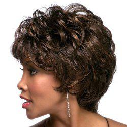 Women Have Short Curly Hair with Sloping Bangs WIG-077 -