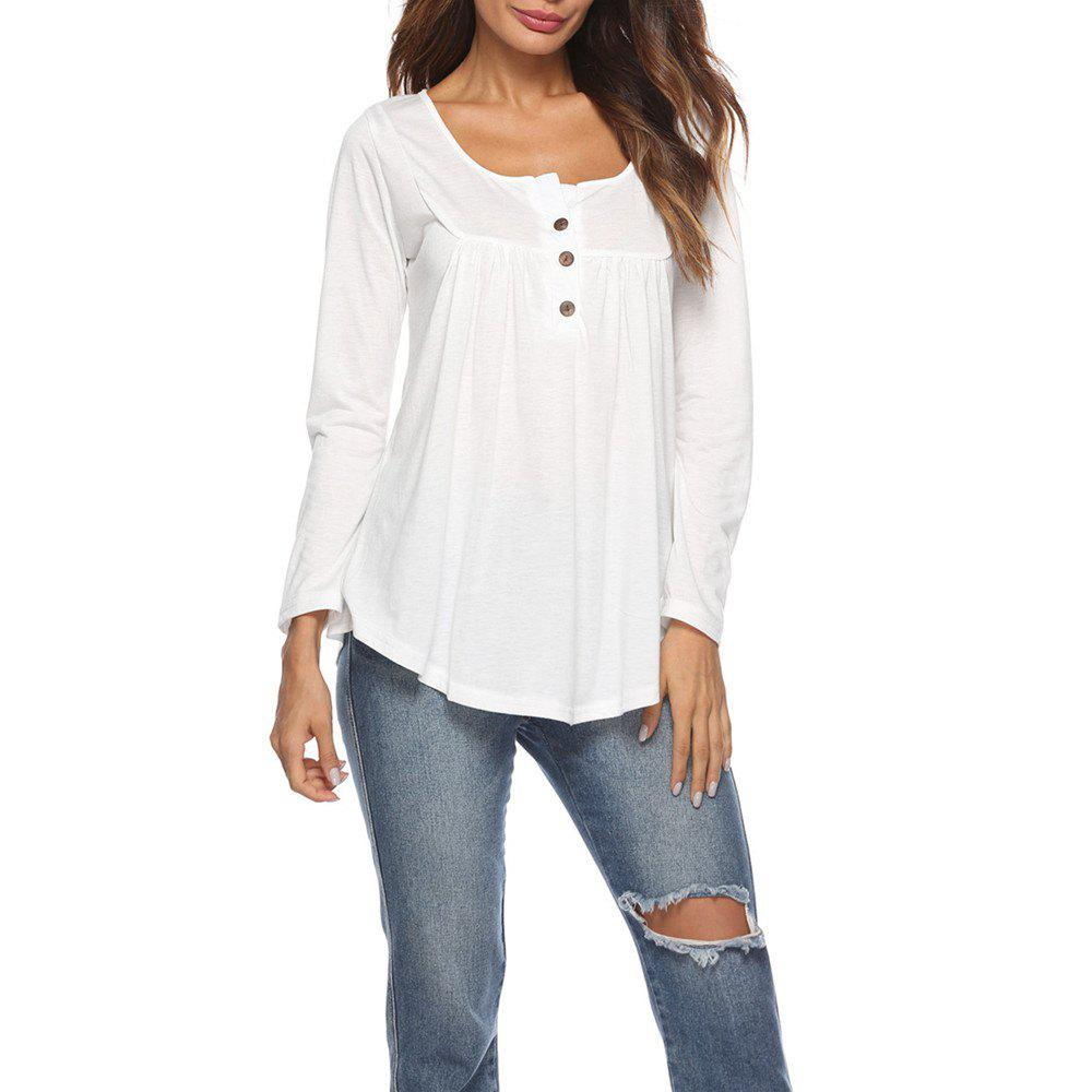 331f003b631 Sale Women s Round Neck Solid Color Casual Loose Long Sleeve Plus Size T-shirt  Tops