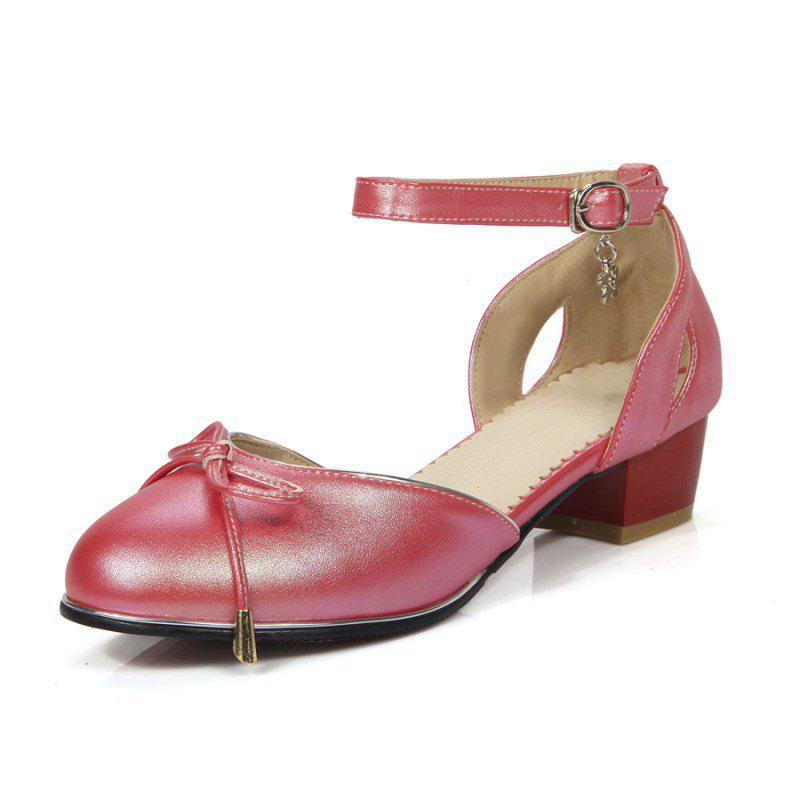 Shop Sweet Bow Round Head Buckles with Student Low Heel Shoes