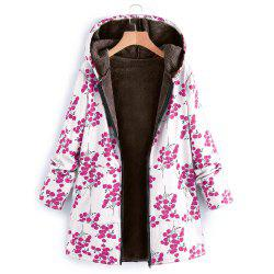 Ladies Long-Sleeved Zipper Hat Thickened Composite Cotton -
