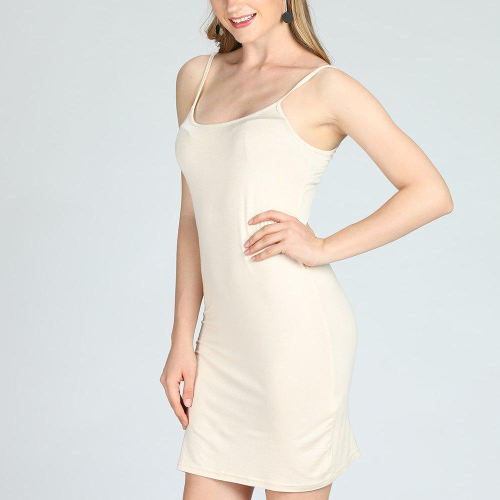 Latest SBETRO Solid Cami Sling Dress Casual Women