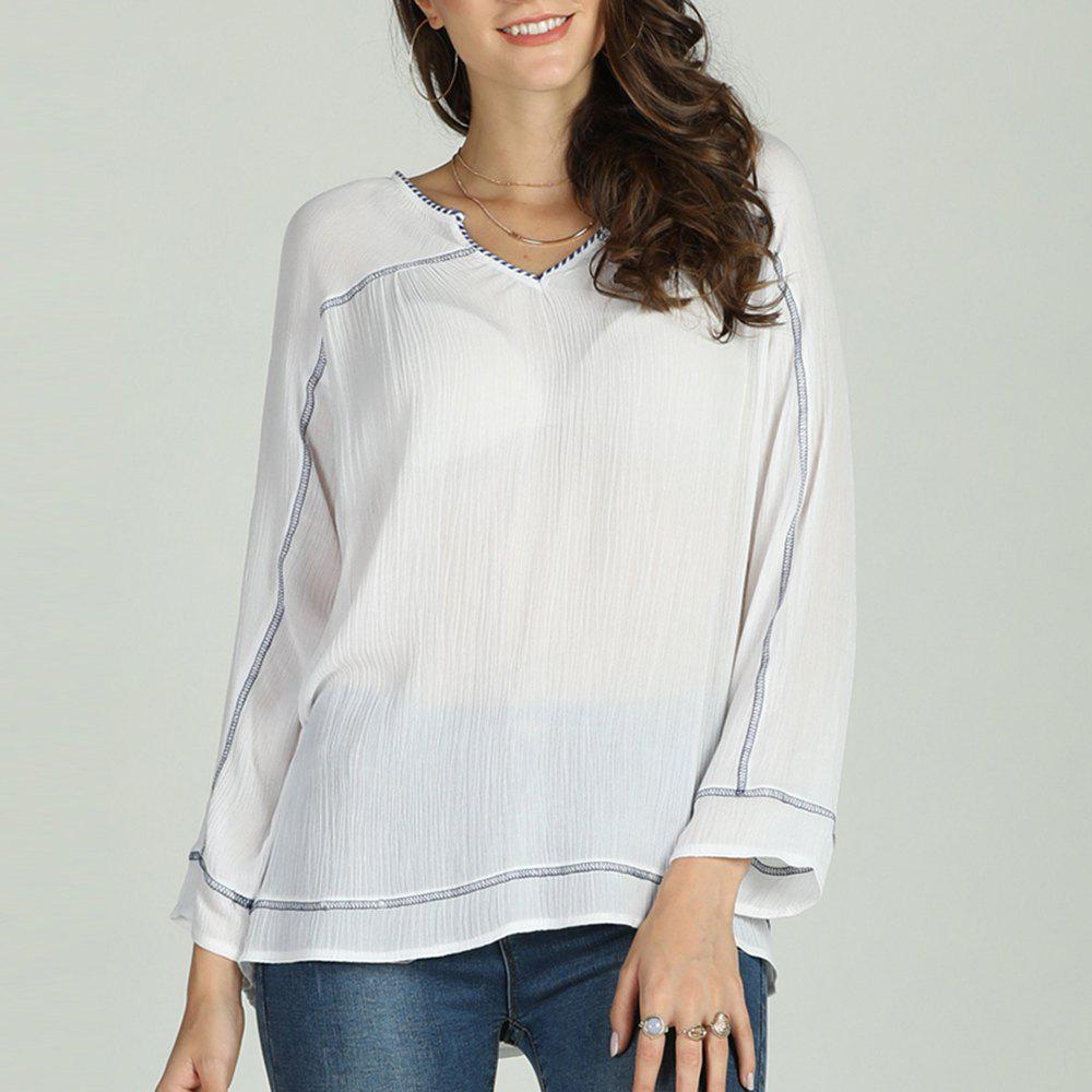 Buy SBETRO Women Solid Chiffon Shirt Long Sleeve Spring