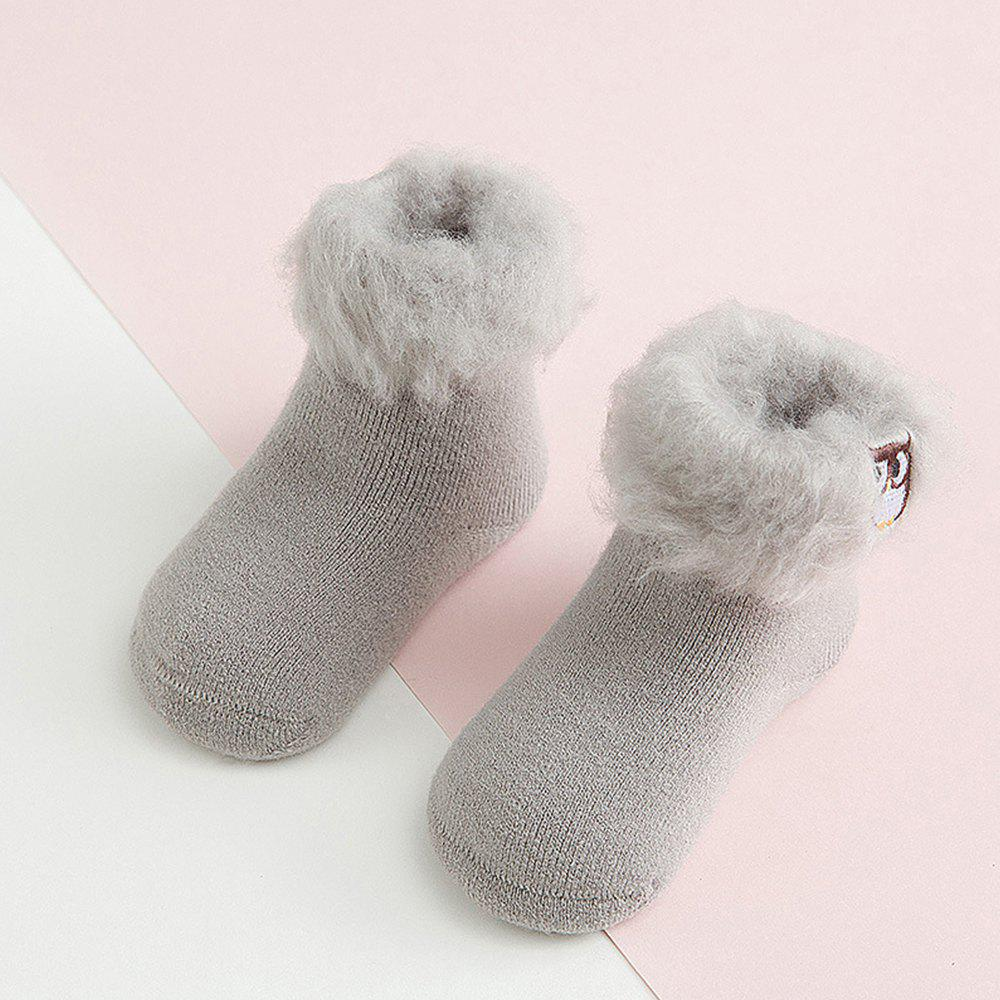 Discount Thick Baby Cartoon Embroidery Warm Baby Socks