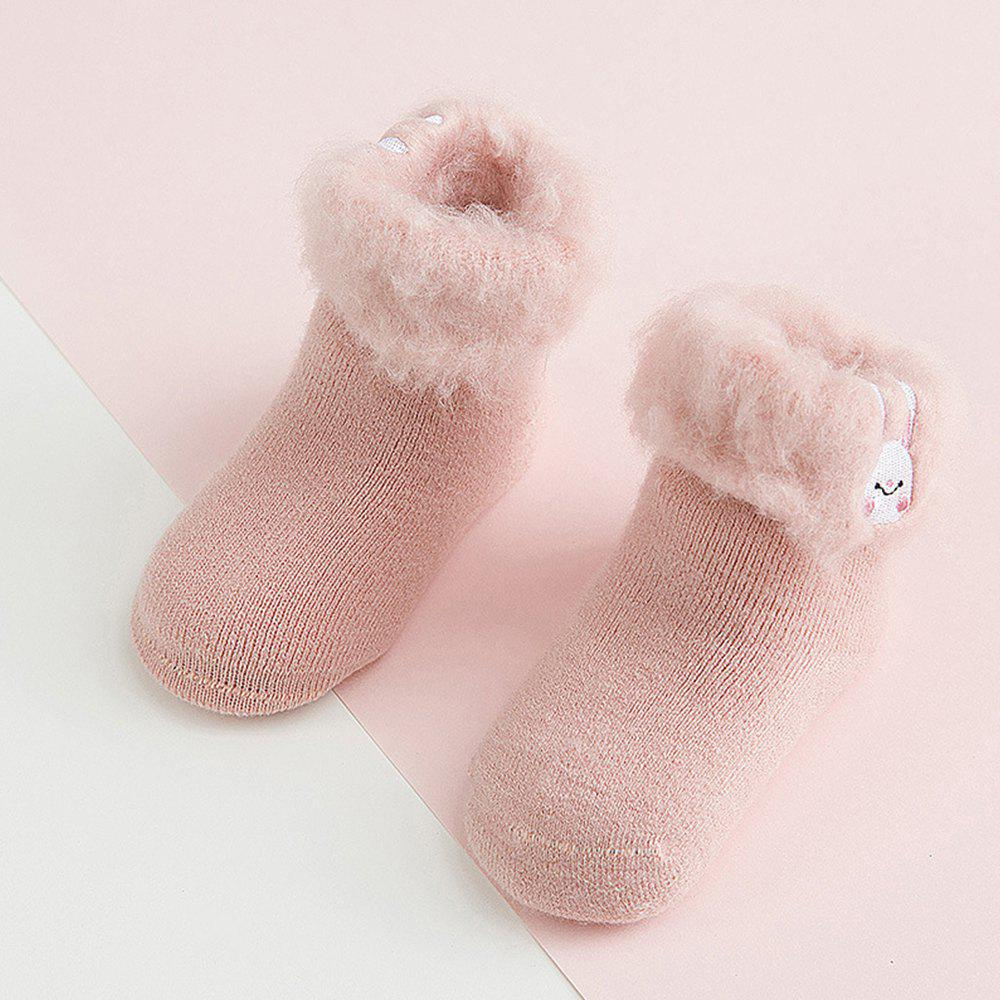 Buy Thick Baby Cartoon Embroidery Warm Baby Socks