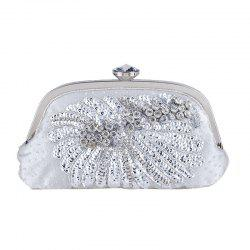 Women'S Handmade Beaded And Sequined Evening Bag Wedding Party Handbag Clutch Pu -