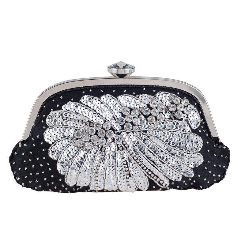 Affordable Women'S Handmade Beaded And Sequined Evening Bag Wedding Party Handbag Clutch Pu