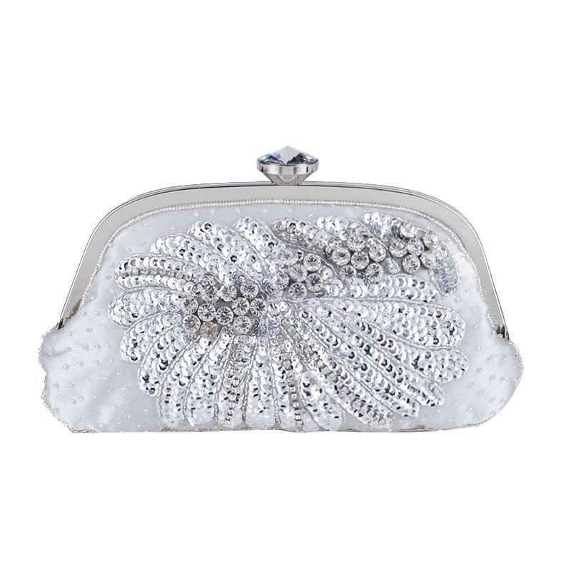 Fancy Women'S Handmade Beaded And Sequined Evening Bag Wedding Party Handbag Clutch Pu