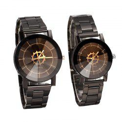 Модный компас Turntable Pointer Steel Band Couples Watch -