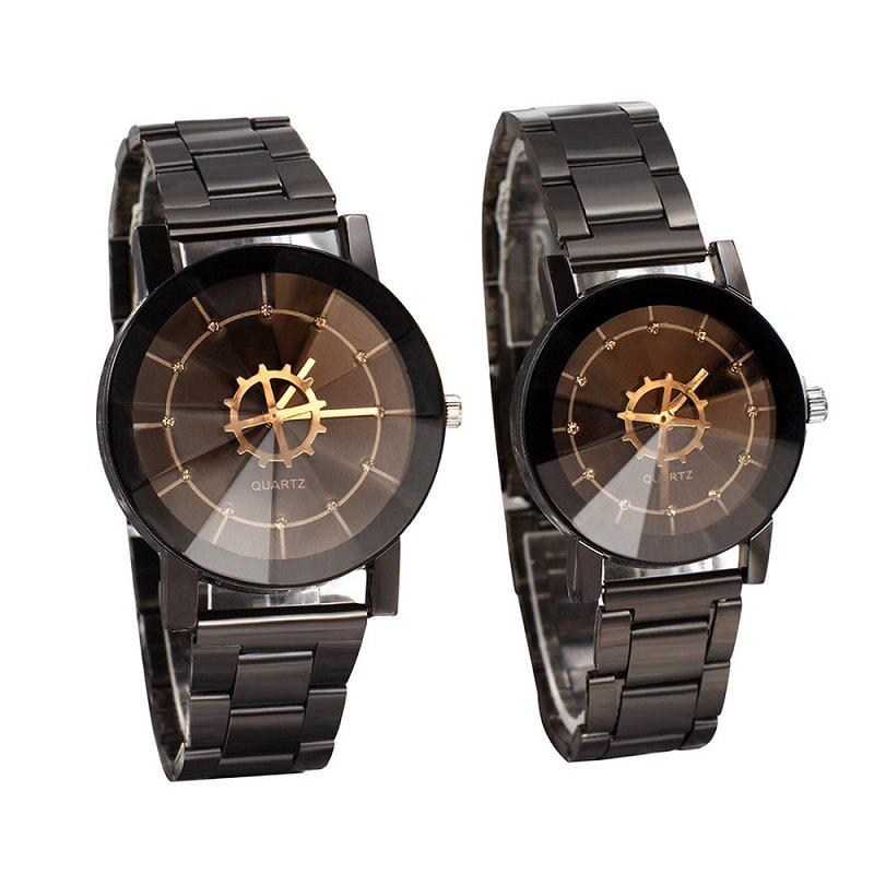Модный компас Turntable Pointer Steel Band Couples Watch
