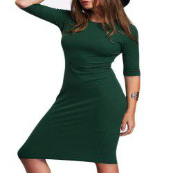New Slim Seven Cent Sleeve Package Hip Dress -