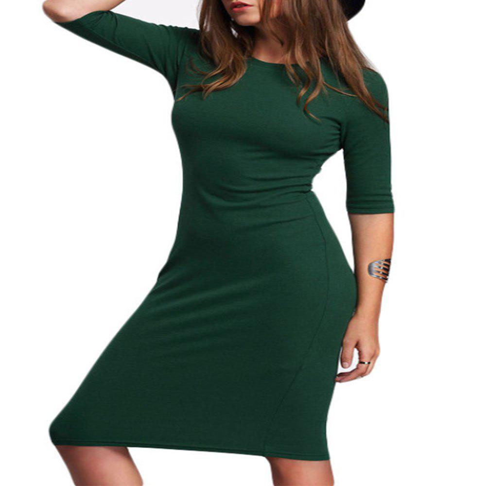 Outfits New Slim Seven Cent Sleeve Package Hip Dress