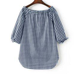 New Women'S Dress with Loose and Thin Plaid Shirt -