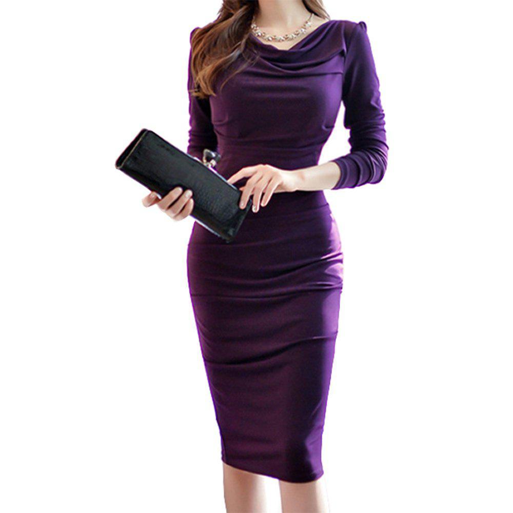 Chic Women'S Long Sleeve Sexy Slim Bag Hip Tight Dress