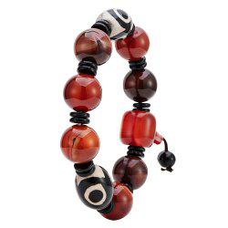 Men Red Agate Chain Bracelet Natural Pearl Beads String -