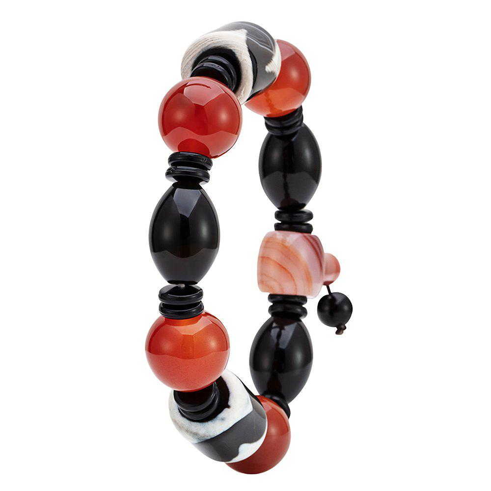 Store Men's Fashion Agate Chain Bracelet Red Bead Beads Agate Hand String