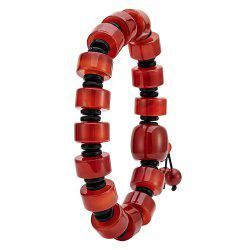 Men Red Onyx Bracelet Natural Color Transfer Beads Hand String -