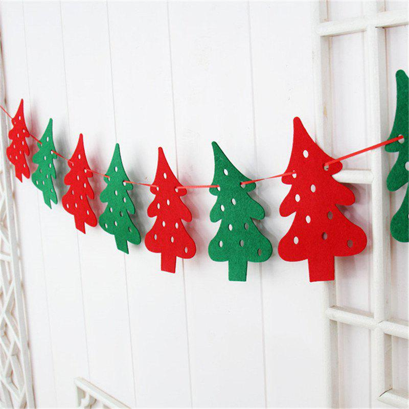 Shops Christmas Decoration Flag DIY Christmas Flag Banner Christmas Tree Decoration Ho