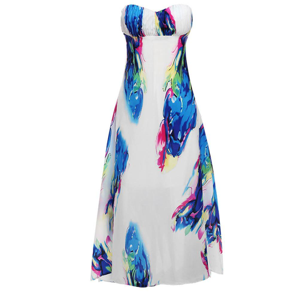 Discount Sexy Sleeves and Sleeveless Digital Print Dress