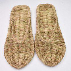 Hand-Woven Shoes Flip-Flops Home Shoes Indoor Sandals Couple Personality Slipper -