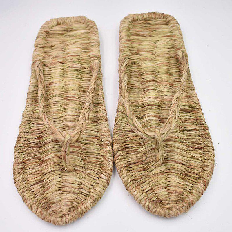 Buy Hand-Woven Shoes Flip-Flops Home Shoes Indoor Sandals Couple Personality Slipper