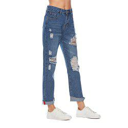 Women's Jeans Fashion Frayed Hollow Out Casual  Pants -