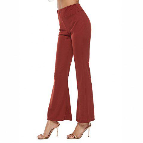 Women'S Stretch Casual Pants High Waist Flared Pants