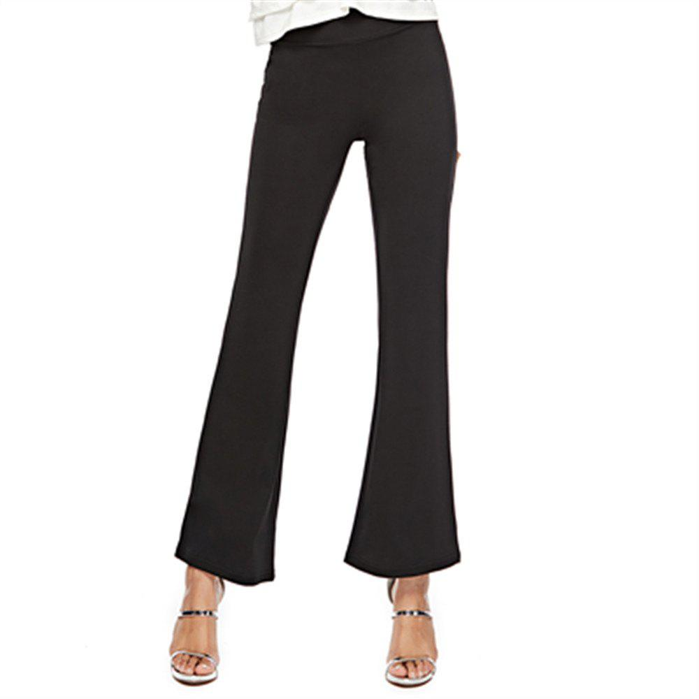 Discount Women'S Stretch Casual Pants High Waist Flared Pants