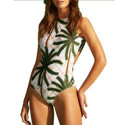 European and American New Coconut Pattern Woman'S One-Piece Swimsuit -