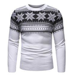 Men'S Autumn New Products Polygonal Pattern Sweater Long Sleeve Sweater -
