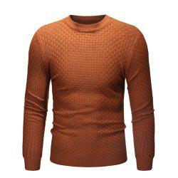 2018 New Men'S Round Neck Casual Slim Bamboo Sweater -