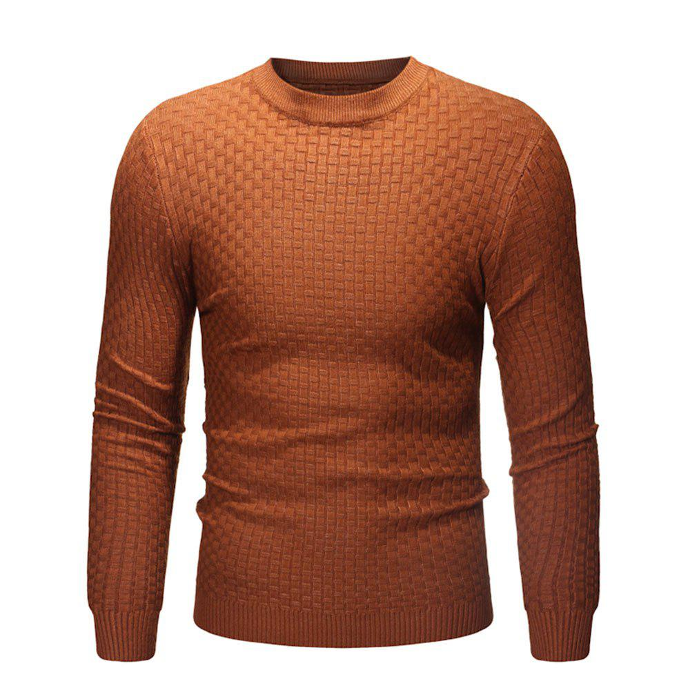 Shops 2018 New Men'S Round Neck Casual Slim Bamboo Sweater