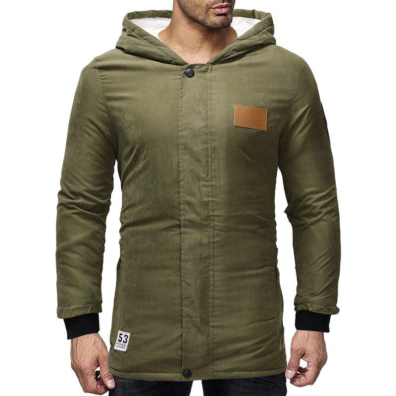 Trendy 2018 Men'S Long Thick Hooded Jacket