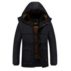 Men'S Cotton Padded Jacket Cotton Winter Coat Hooded Jacket -