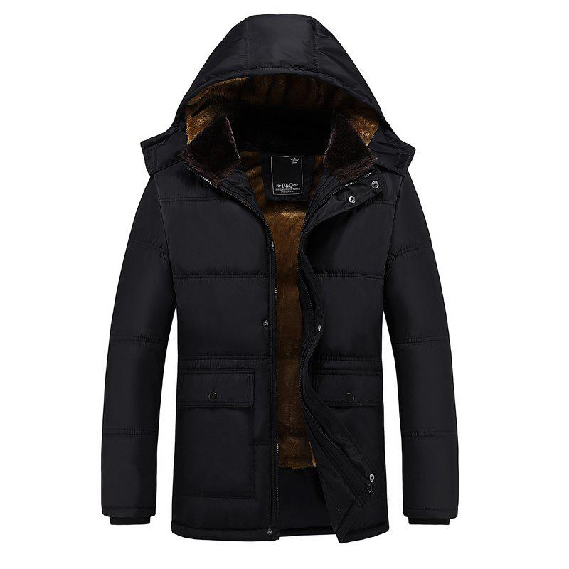 New Men'S Cotton Padded Jacket Cotton Winter Coat Hooded Jacket