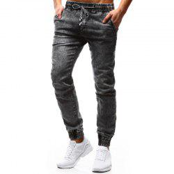 Jeans de loisirs New Pattern Classic Loose Tethered pour hommes - Gris L