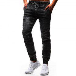 New Pattern  Classic Loose  Tethered Men's Leisure Jeans -