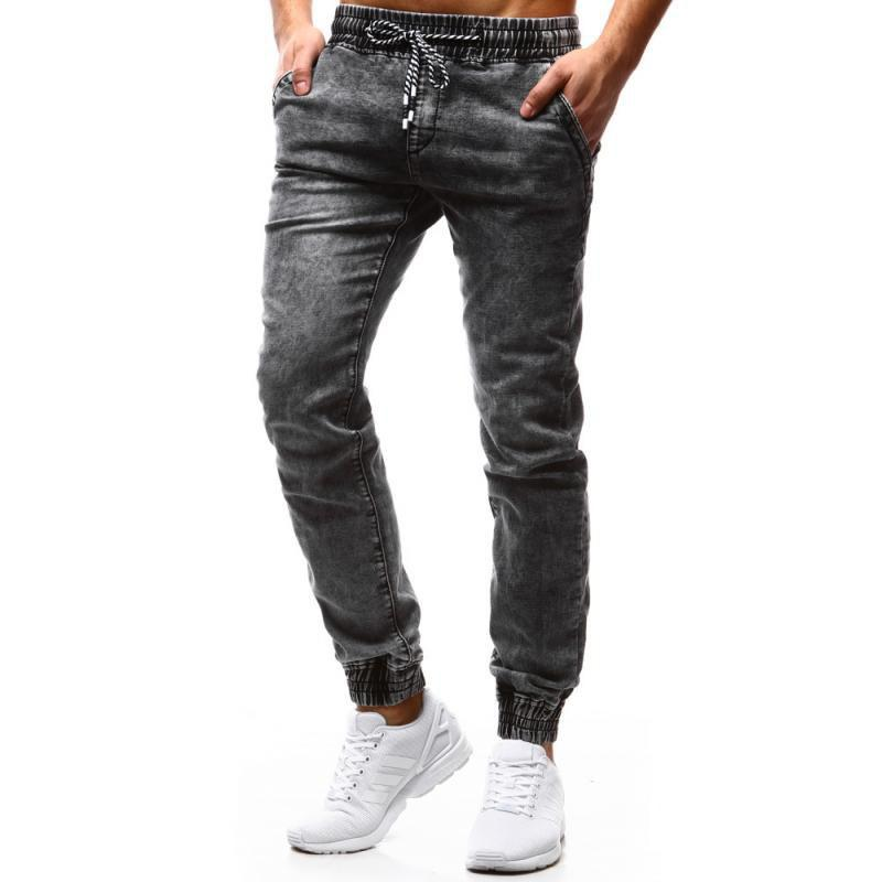 Fashion New Pattern  Classic Loose  Tethered Men's Leisure Jeans