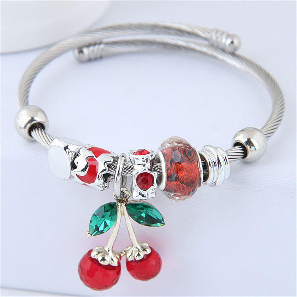 Outfit European Style Fashion Metal Cherry Bracelet Accessories