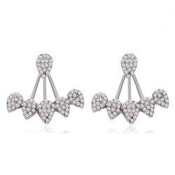 European Style Fashion Rhinestone Drop Ear Jacket -